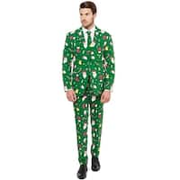 Oppo Suits Santa Boss Suit Adult Costume - Green