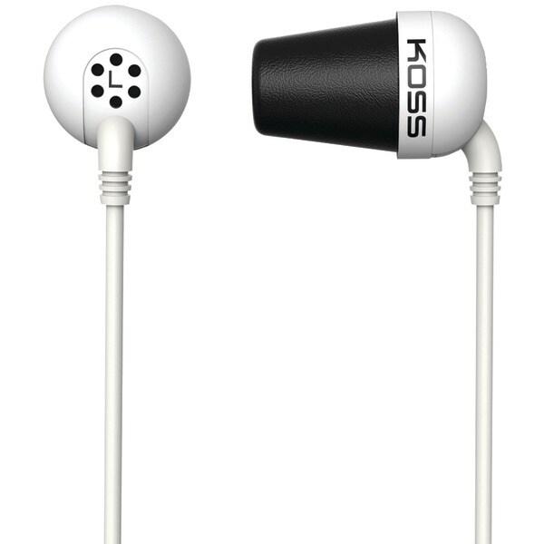 Koss 185331 Plug In-Ear Earbuds (White)
