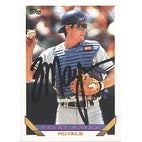 Brent Mayne Kansas City Royals 1993 Topps Autographed Card This item comes with a certificate of a