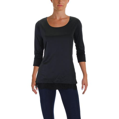 BOSS Hugo Boss Womens Elinee Dress Top 3/4 Sleeve Lace Trim