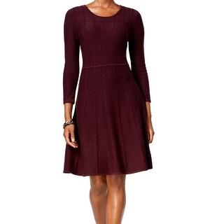 Jessica Howard NEW Red Women's Size Medium M Sweater Sheath Dress