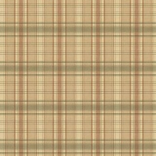Brewster CTR13045 Delaney Green Sunny Plaid Wallpaper - Green Plaid