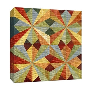"""PTM Images 9-146750  PTM Canvas Collection 12"""" x 12"""" - """"Kaleidoscope Quilt I"""" Giclee Patterns and Designs Art Print on Canvas"""
