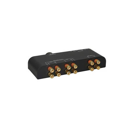 Xtrempro 61052 2 Way Speaker Switch 1 Input 2 Out Pair Stereo Speaker Selector Volume Control