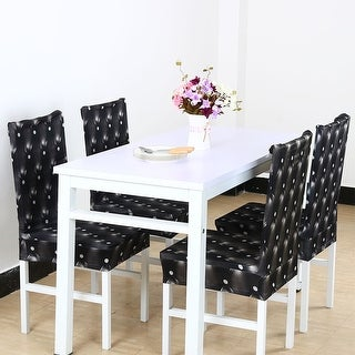 3D Pattern Spandex Stretch Short Chair Seat Covers Dining Chair Slipcovers