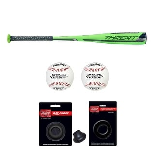 "Link to Rawlings 2019 Threat USA Baseball Bat (29""/17 oz) with Accessory Bundle Similar Items in Team Sports Equipment"
