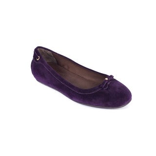 Car Shoe Women's Dark Purple Suede Ballerina Flats