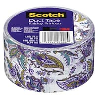 Scotch Duct Tape, 1.88 Inches x 10 Yards, Purple Paisley