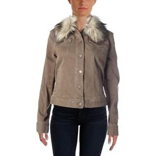 LRL Lauren Jeans Co. Womens Faux Fur Outerwear Jacket - L