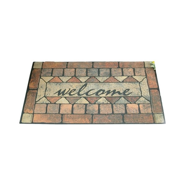 Shop Simple Spaces 06abshe 16 Rubber Welcome Floor Mat 18