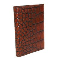 Scully Men's Leather Gusseted Card Case with Croco Finish - One size