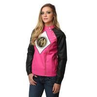 Power Rangers Pink Ranger Womens Moto Jacket