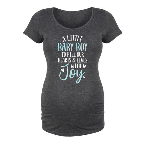 A Little Baby Boy - Maternity Scoop Neck Tee