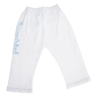 Bambini LS-0208 Boys Pants with Print, White & Blue - Small