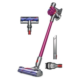 Dyson V7 Motorhead Cordless Vacuum Cleaner + Direct Drive Cleaner Head + Wand Set + Combination Tool + Crevice Tool - Purple