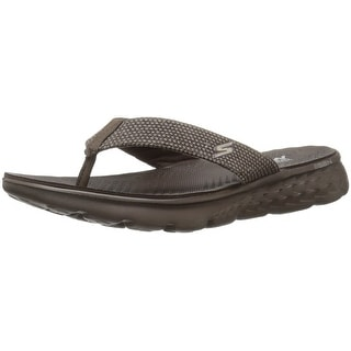 Skechers Performance Men's On The Go 400 Costa Flip Flop, Chocolate Canvas, 12 M US