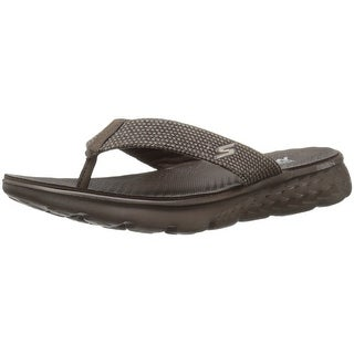 Skechers Performance Men's On The Go 400 Costa Flip Flop, Chocolate Canvas, 8 M US
