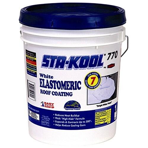 Sta-Kool SK-7705 Ultra Elastormeric Roof Coating, 5 Gallon, White
