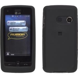 Wireless Solutions Soft Touch Snap-On Case for LG LN510 Rumor Touch - Black