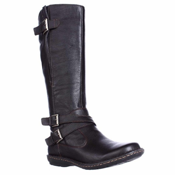 B.O.C. Born Barbana Multi Strap Riding Boots, Dark Brown