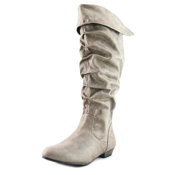 Fergalicious Rookie Wide Calf Women Round Toe Synthetic Tan Knee High Boot