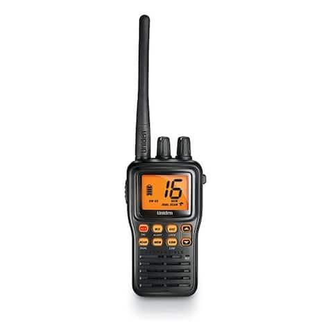 Uniden MHS75 Submersible Handheld VHF Marine Radio with LCD Display