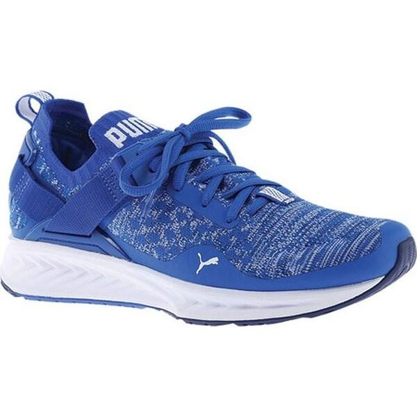 Shop PUMA Men s IGNITE evoKNIT Lo Sneaker Lapis Blue Blue Depths ... 1781c9e08