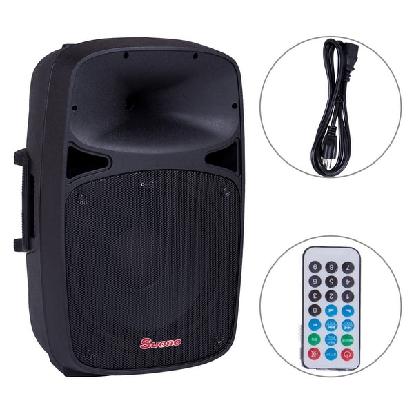 12'' 2-Way Powered Active Speaker 800W Pro USB/SD Card Bluetooth Remote Control