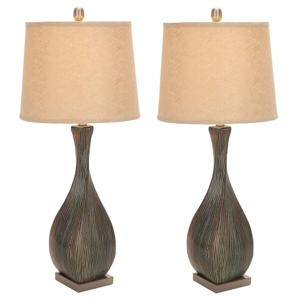 Aspire Home Accents 95786 Dana Table Lamp (Set of 2) - Brown/Green