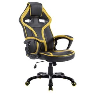 Costway Race Car Style Bucket Seat Office Chair High Back Racing Gaming Desk Task