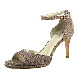 Tahari Gea Women Open-Toe Leather Gray Heels