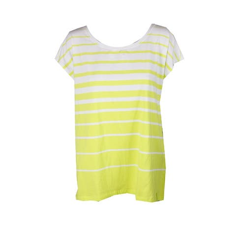 Lauren Ralph Lauren Bright Green Striped Jersey T-Shirt XS