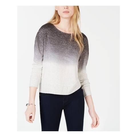 BAR III Womens Gray Ombre Long Sleeve Jewel Neck Sweater Size XL