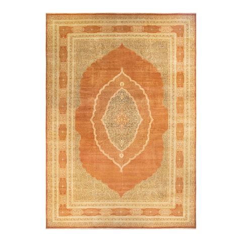 """Mogul, One-of-a-Kind Hand-Knotted Area Rug - Brown, 12' 3"""" x 18' 1"""" - 12' 3' x 18' 1'"""