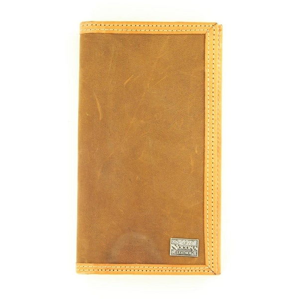Nocona Western Wallet Mens Checkbook Smooth Leather Tan - One size