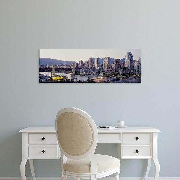 Easy Art Prints Panoramic Images's 'Skyscrapers in a city, Vancouver, British Columbia, Canada' Premium Canvas Art