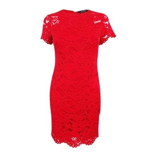 Lauren Ralph Lauren Women\u0027s Petite Lace Sheath Dress