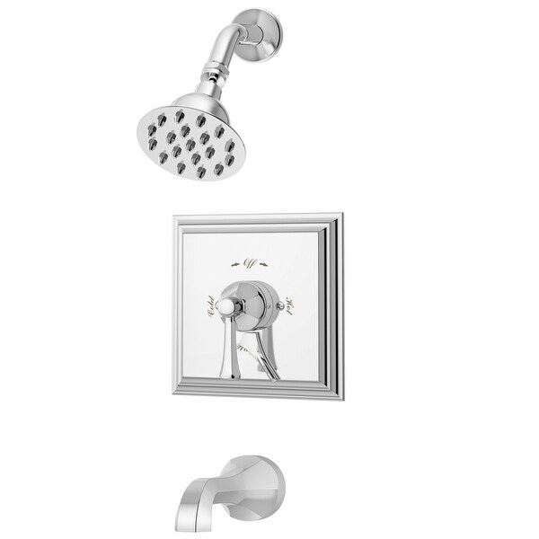Symmons S-4502-TRM Canterbury Tub and Shower Trim Package with Single Function Shower Head