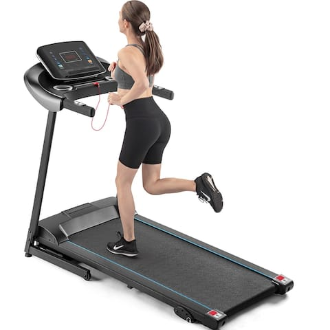 Electric Motorized Treadmill with Audio Speakers, Max.10 MPH