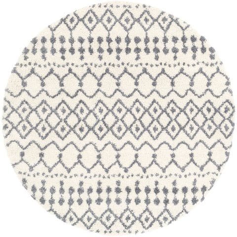 Bouchra Moroccan Trellis Shag Area Rug