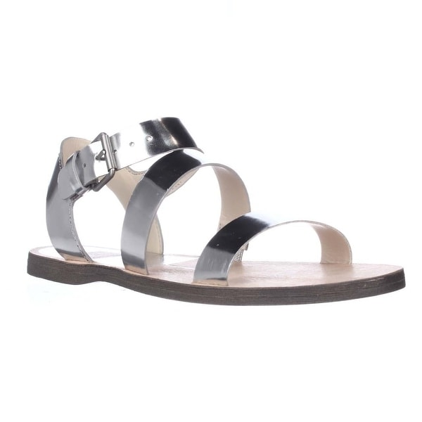Dolce Vita Veya Flat Strapped Sandals, Silver Specchio - 6 us