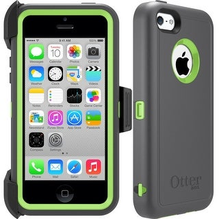 OtterBox Defender Series Case for iPhone 5C - Retail Packaging - Apple Green/Slate Grey