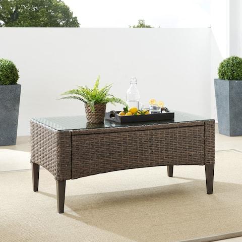 "Rockport Outdoor Wicker Coffee Table - 43.75""W x 23.63""D x 20'H"