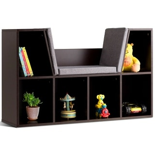 Link to Costway 6 Cubby Kid Storage Cabinet Cushioned Bookcase Multi-Purpose Similar Items in Bookshelves & Bookcases