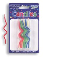 Crazy Curl Multi Colors Novelty Candles