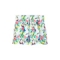Azul Boys Multi Color Sour Toucan Print Drawstring Swim Shorts