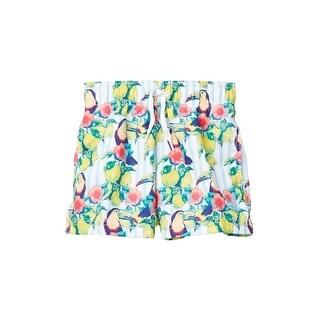 Azul Little Boys Multi Color Sour Toucan Print Drawstring Swim Shorts