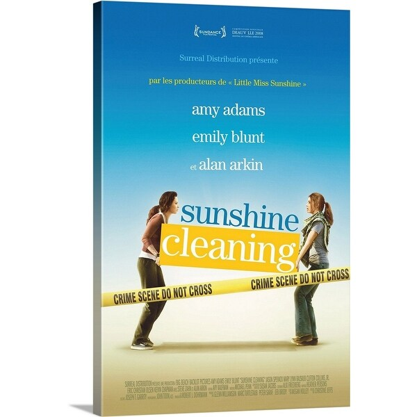 """""""Sunshine Cleaning - Movie Poster - French"""" Canvas Wall Art"""