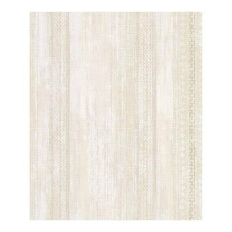 Blair Yellow Ikat Stripe Wallpaper - 21 x 396 x 0.025