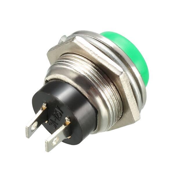 LOT of 2 Push Button Switch Momentary Single Pole N.O Gold PC Thru-Hole Rt Ang